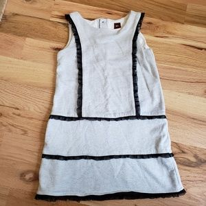 Tea Collection Sliver Shimmer Gray Dress sz 7